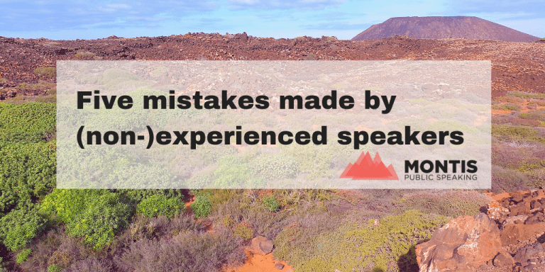 Five mistakes made by (non-)experienced speakers
